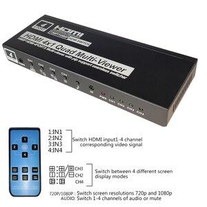 Image 4 - 4x1 HDMI Quad Screen Multiviewer HDMI seamless switcher HDMI multivierer screen splitter 1080P HD IR HDMI Switch