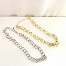 Модное ожерелье из толстой цепи с кругами для женщин новые корейские