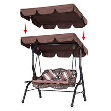 Qianqiu shadecloth replacement cloth Double Outdoor Garden Swing Cover Canopy Shade190x132x15cm Waterproof Swing Chair Top Cover