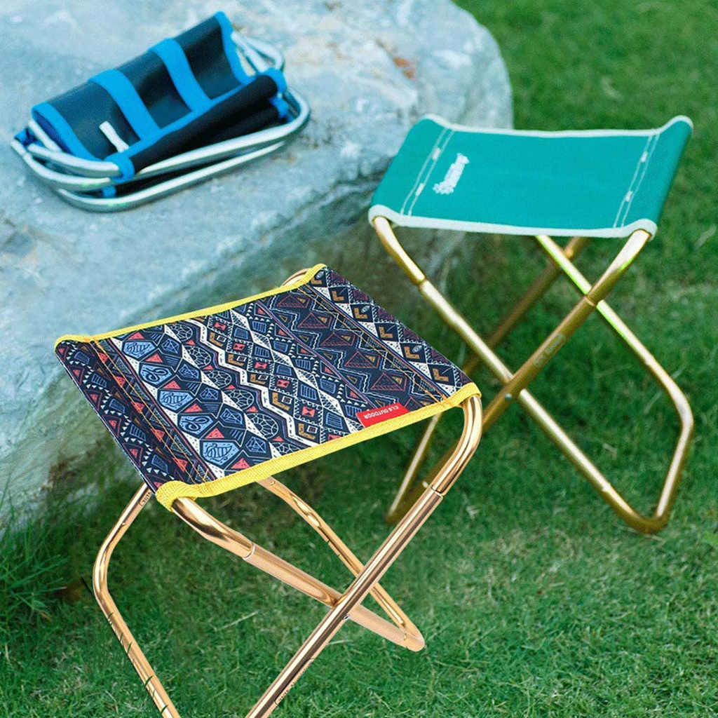 2 Pieces Soft Inflatable Camping Chair Ultralight Stool Outdoors Backyard