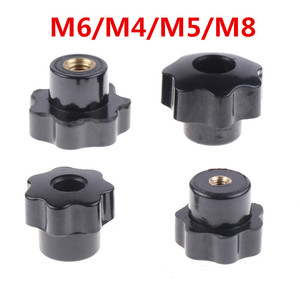 Hot Plastic Carbon Steel Galvanization Male Thread Star Shaped Head Clamping Nuts Knob For Industry Equipment M6/M4/M5/M8