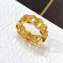 Luxury Golden Color Ring High Quality Letter Design For Woman Cocktail Party Finger Accessories Professional Design Jewelry