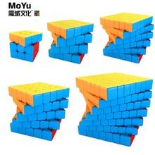 Moyu meilong cubo mágico 3x3 4x4 5x5 6x6 7x7 cubo velocidade profisional cubo quebra-cabeça 3x3 cubo mágico divertido jogo brinquedos para crianças MoYu meilong Magic cube profissional Speed cube magia neo cube game