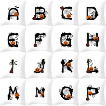 Morden White Letter Halloween Home Decorative Cushion Cover For Sofa Polyester Printed Throw Pillow Cover 45x45cm Pillow Case цены