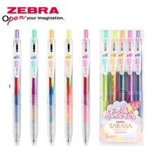 ZEBRA pióra żelowe do pisania kawaii długopis szybkoschnący naciśnij kolor ręka konto 0.5 gradient kolor marzeń rysunek długopis do malowania JJ75