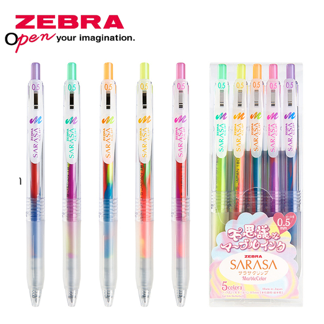 ZEBRA stationery gel pen kawaii pen quick drying press color hand account 0.5 gradient dream color drawing painting pen JJ75