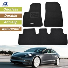 Mats Carpet Floor-Mat Tesla-Model Waterproof Front Custom Rear for Odorless 3pcs Anti-Slip-Liner