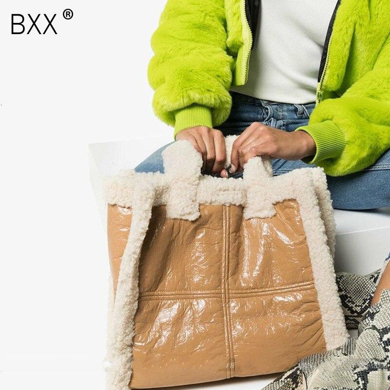 Pele do Falso Bolsas para as Mulheres Bxx] Crossbody Nova Sólida Inverno Ombro Bolsa Mensageiro Totes Senhora Bolsas Quentes A263 2020 Cor