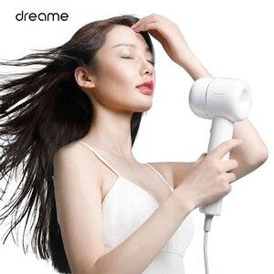 Image 4 - Orijinal Dreame saç kurutma makinesi akıllı sıcaklık kontrolü negatif iyon erkek ve kadın ev çift güç siyah beyaz