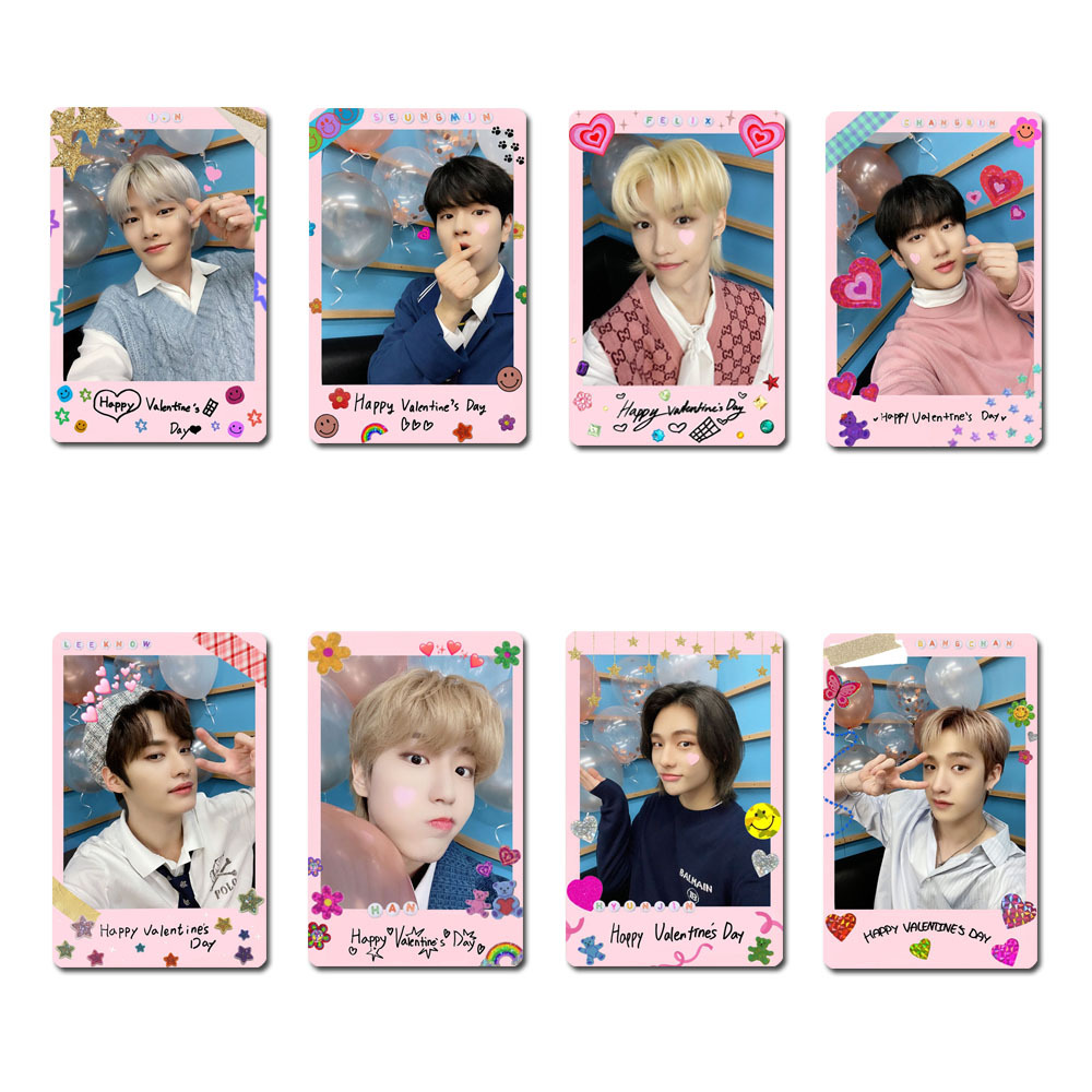 8pcs/set Kpop STRAY KIDS photocards Selfie Photo cards for fans collection