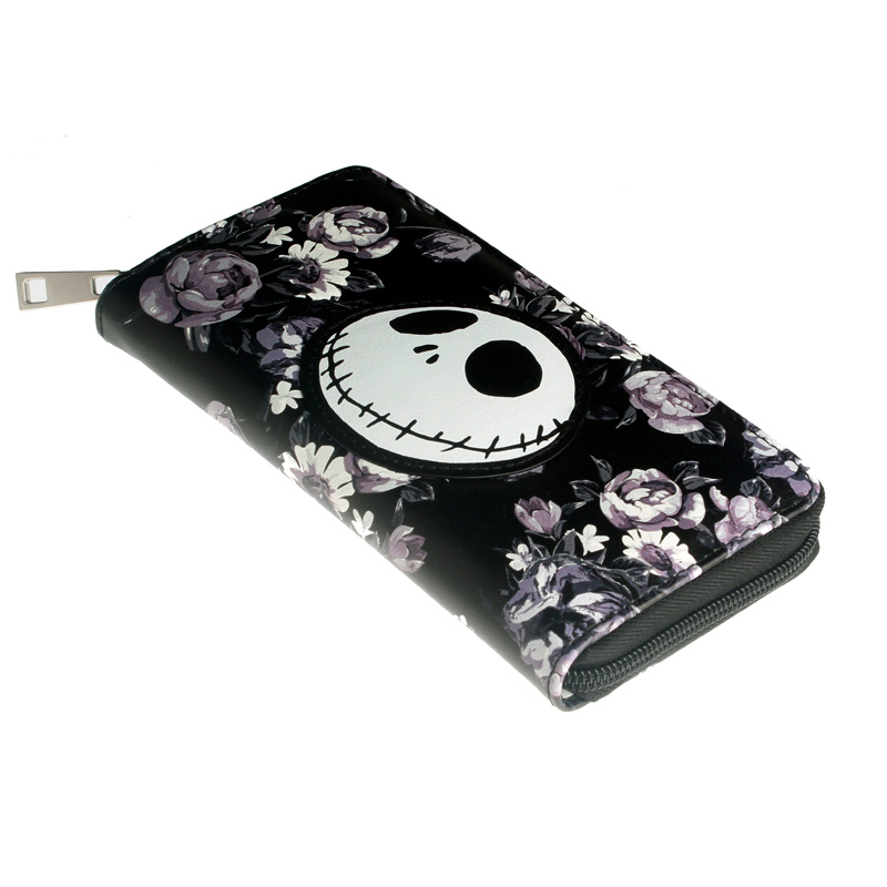 Jack Zipper Women Wallet Roses Purse The Nightmare Before Christmas