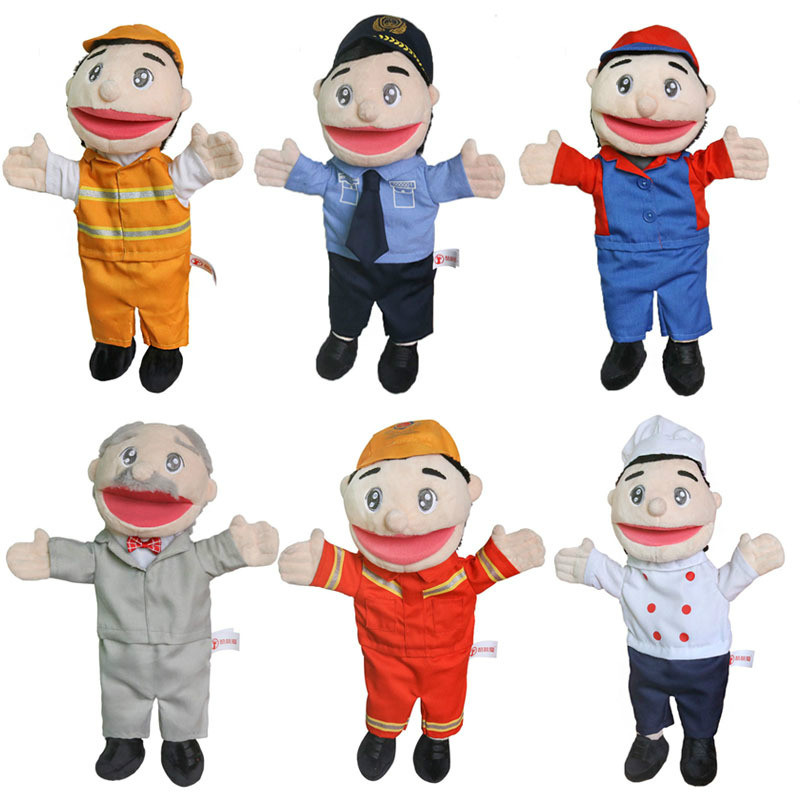 Hand Puppet for Kids Large Plush Toys Polic…