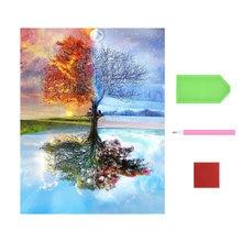 Diamond painting 5d diy home decoration four seasons tree 40