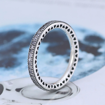 цена на Free Shipping Real 925 Sterling Silver Ring Heart shaped shining ring  For Women's Gift Banquet Jewelry