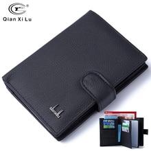 Genuine Leather Passport Cover Men Travel Passport Holder Card Case Man Card Wallets High Quality