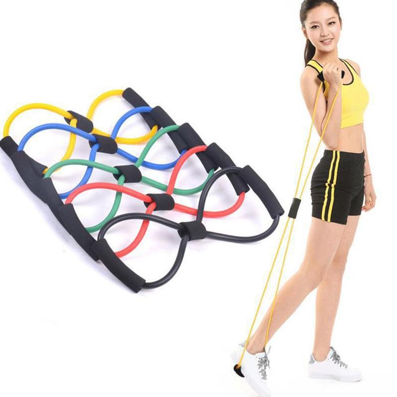 8 Word Fitness Rope Resistance Bands Rubber Bands For Fitness Elastic Band Fitness Equipment Expander Workout Exercise Training