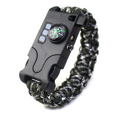 Outdoor Multifunctional Survival Laser Flashlight Paracord Bracelet 7 in 1 Hand-woven Infrared Equipment survive Tools(China)