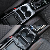 Auto Styling Console Central Front Water Cup Holder Trim ABS Fit For Nissan Qashqai J11 2014   2018 2019 Matte / Carbon Fiber|Chromium Styling| |  -