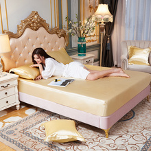Protector Bed-Cover Bedspread Fitted-Sheet King-Size Soft Smooth Sabanas Cool Pure-Color