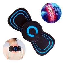 Portable Mini Electric Neck Massager Cervical Spine Massage Patch Pain Relief Vibration Muscle Relaxation Shoulder Back Massager