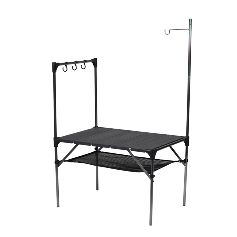 Outdoor Folding Table Camping Barbecue Table Stitched Assembled Aluminum Plate Table Ultra Light Stall Table Picnic Table
