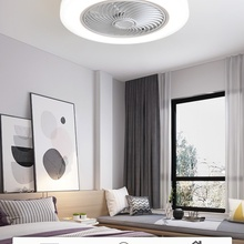 Huayang intelligent ceiling fan with lamp electric fan remote control bedroom decorative ventilator lamp 45cm air invisible blad