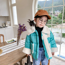 цена на XINI MOMMY 2020 Winter Down cotton padded jacket short thick padded jacket  baby clothes  winter jacket  kids down jacket Y43