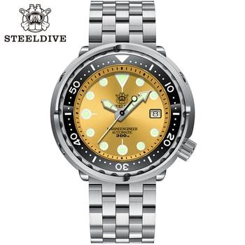Steeldive SD1975 Black Dial Ceramic bezel 30ATM 300m Waterproof Stainless Steel NH35 Tuna Mens Dive Watch 4