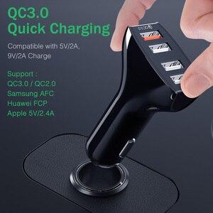 Image 3 - YKZ chargeur de voiture Charge rapide QC 3.0 chargeur de voiture 4 Ports rapide voiture téléphone chargeur téléphone voiture USB chargeur pour Samsung Xiaomi iPhone