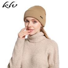 Women Men Winter Autumn Ribbed Knit Thin Stripes Beanie Cap Solid Color Metal Logo Emblem Outdoor Snow Ski Cuffed Skull Hat