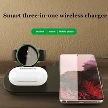3 in 1 Wireless Charger For iPhone 11 XS XR X 8 Plus Samsung S20 Charging Dock for Samsung Watch Fast Charger For Airpods