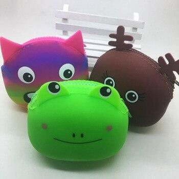 Mini monedero de silicona para 2020, carteras pequeñas para mujer, tarjetero, monedero con diseño creativo y bonito de dibujos animados, monedero con diseño de gato, bolsos de mano para niños y niñas