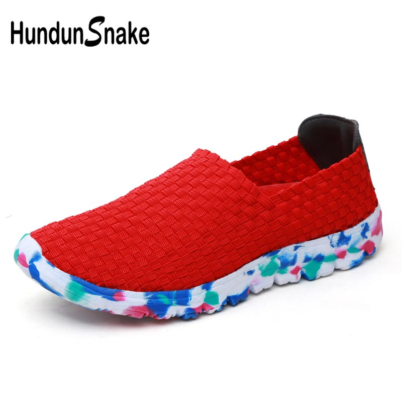 Summer Woven Tennis Feminino Female Sneakers Sport Woman Running Shoes Woman Sports Shoes Lady Without Laces Red Athletic E-380