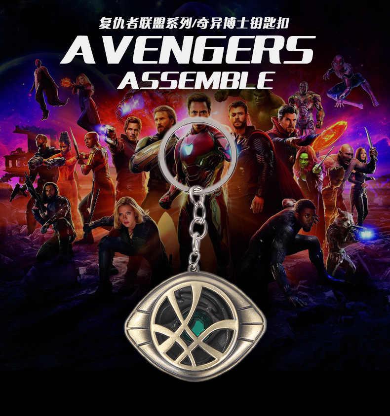 Nuevo Doctor strange-Llavero vengadores Marvel superhéroe película llavero infinito guerra regalo llavero para Mujeres Hombres