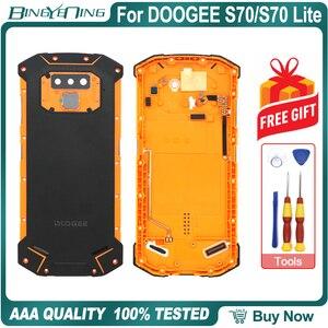 Image 1 - Nieuwe Batterij Case Beschermende Batterij Case Back Cover + Power Volume Kabel + Vingerafdruk Kabel + Camera Glas Voor Doogee s70/S70 Lite