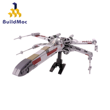 Buildmoc Mini Military Wars X Wing Fighters Bricks AT Walker MicroFighters Building Blocks DIY Star Toys Model for Children Gift