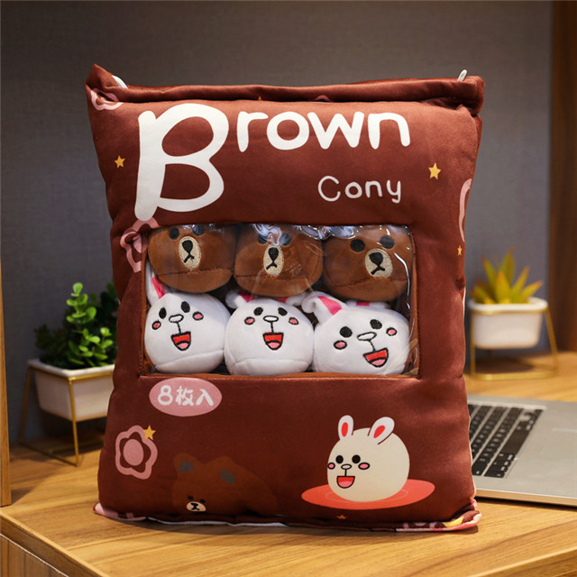 Net red big bag of snack pillow cute cartoon robot cat pikachu doll doll plush toy girl pillow bed pillow birthday gift for boys