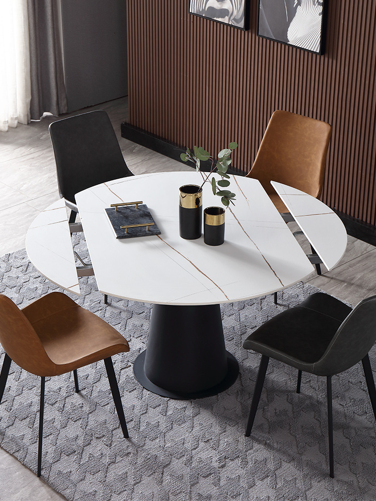 Marble Dining Table Imported Rock Plate Folding Round Dining Table Multifunctional Square And Round Dining Table Dining Room Sets Aliexpress