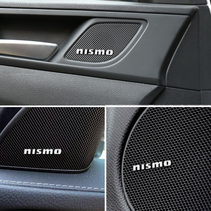 10 шт. 3D алюминиевая эмблема наклейка для Nissan Nismo X-trail Almera Qashqai Tiida аксессуары для автомобиля Стайлинг автомобиля аудио украшения