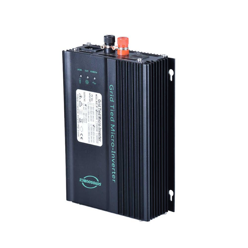 Conversor de rede, 600w conversor de rede de descarga de bateria mppt onda senoidal pura painel solar de entrada múltipla dc opcional