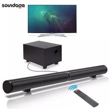 Soundgae 65W TV ses çubukları ev sineması Soundbar ayrılabilir Bluetooth 5.0 hoparlörler Echo duvar çubuğu Subwoofer Boost bas