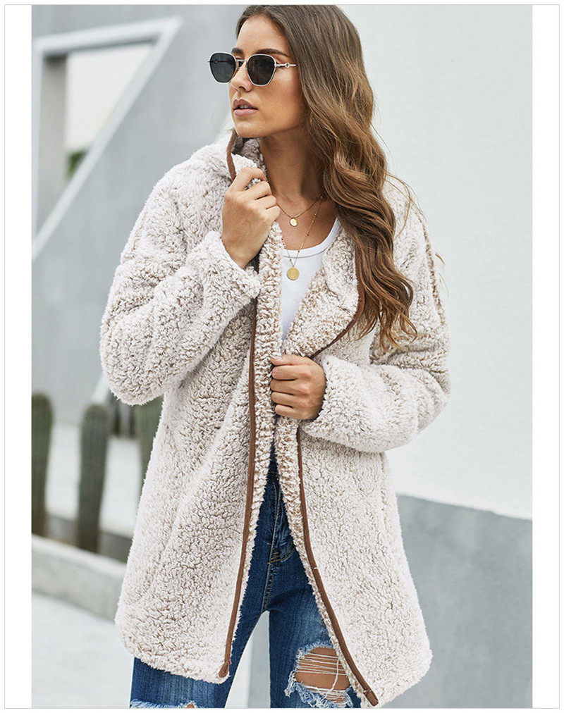 Designer Thick Womens Winter Coats Fashion Warm Cardigan Cloting Plus Size Casual Hooded Women Winter Jacket