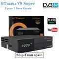 GT MEDIA Cccam 7 линий для 1 года Европа Испания DVB-S2 Freesat V9 Супер Спутниковый приемник RJ45 поддержка H.265 HD ТВ приставка