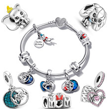 100% 925 sterling silver pendant Dumbo jewelry accessories Simba Charm fit original Pandora bracelet bead making gifts for women