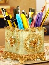 Fashion penholder receptacle box lovely creative makeup brush barrel Nordic inswind personality resin ornaments
