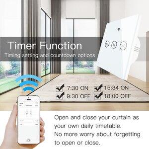 Image 2 - RF WiFi חכם מגע וילון תריסי רולר תריס מתג Tuya חכם חיים App שלט, עבודה עם Alexa הד Google בית