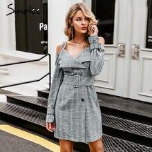 Simplee Осень платья пояса