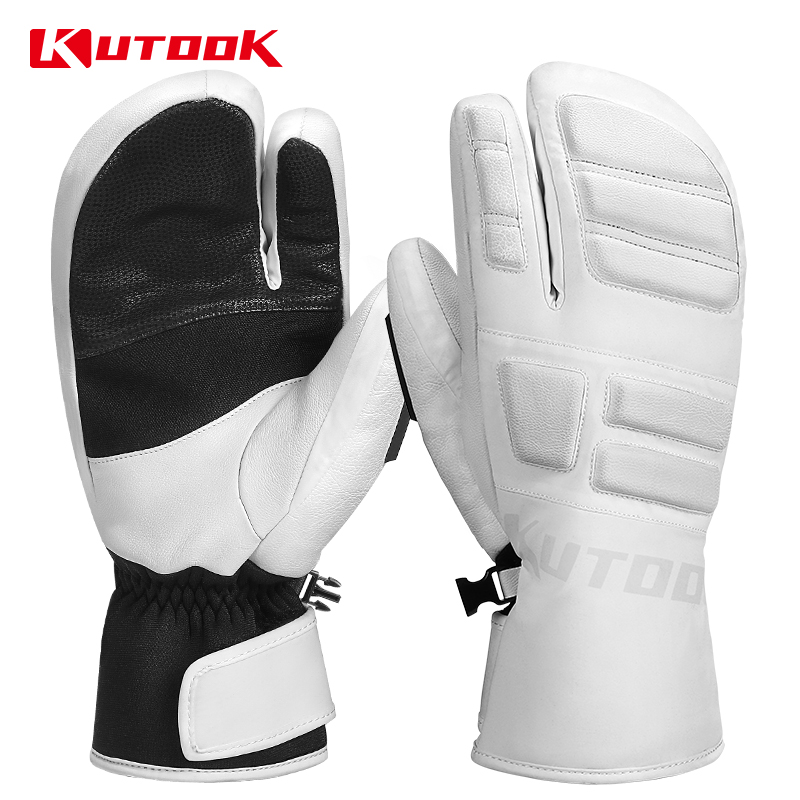KUTOOK Winter Ski Gloves Thermal Warm Snow Snowmobile Snowboard Mittens Waterproof Men Women Sport Skiing Protective Accessories