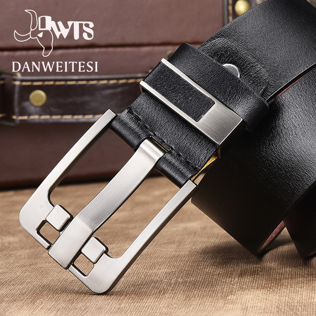 High quality genuine leather strap luxury jeans belt free shipping 1