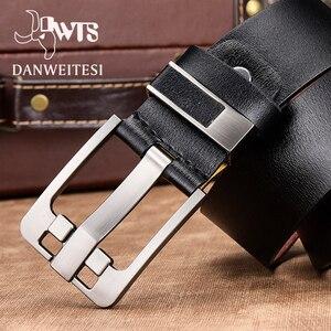 Image 2 - [DWTS] cintura da uomo cintura da uomo in pelle di alta qualità da uomo cinturino in vera pelle da uomo fibbia ad ardiglione di lusso jeans vintage fantasia spedizione gratuita